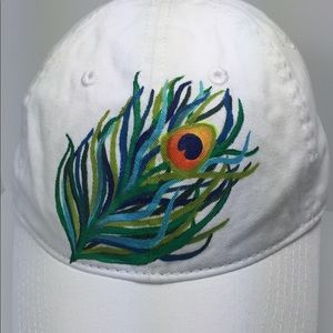 561e0fa31dc Authentic Pigment Accessories - Authentic Pigment Ball Cap with Peacock  Feather